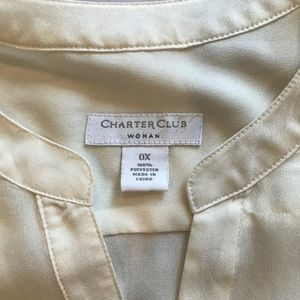 Charter Club Tops - EUC Cream Charter Club Blouse